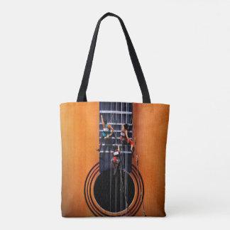 Surreal Guitar Climbers Tote Bag