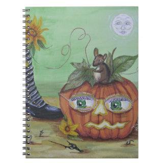 Surreal Halloween Pumpkin Note Books