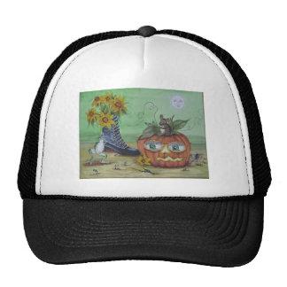 Surreal Halloween Pumpkin Trucker Hat
