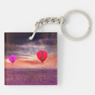 Surreal Hot Air Baloons Keychain