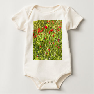 Surreal Hypnotic Poppies Baby Bodysuit