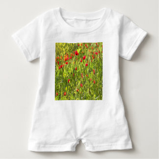 Surreal Hypnotic Poppies Baby Romper