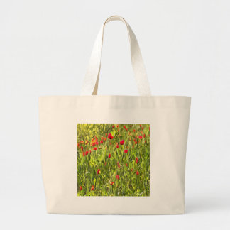 Surreal Hypnotic Poppies Large Tote Bag