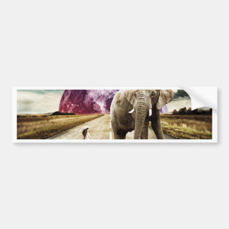 surreal I AND MY ELEPHANT Bumper Sticker
