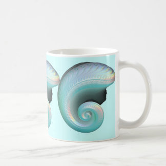 Surreal Jade Rainbow Shell Coffee Mug