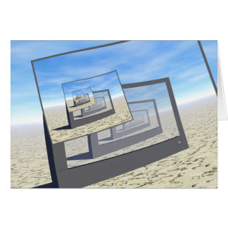 Surreal Monitors Infinite Loop Card