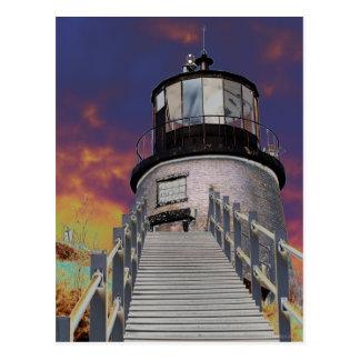 Surreal Owls Head Lighthouse Postcard