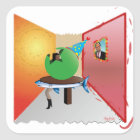 Surreal Party - Colourful, Weird and Artistic Square Sticker