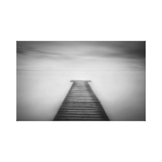 Surreal Pier Landscape Canvas Print