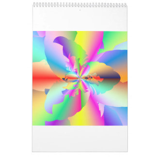 Surreal Rainbow Cyberscapes 2017 Calendar