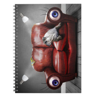 Surreal Red Couch Alive Notebook
