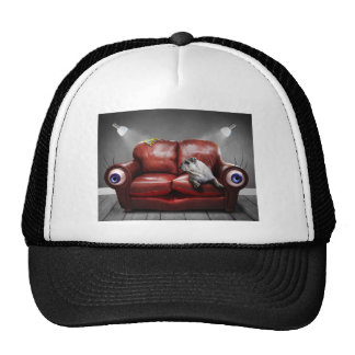 Surreal Red Couch Alive Trucker Hat