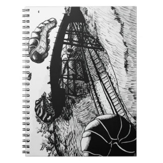 Surreal Science Fiction Spaceship Illustration Note Books
