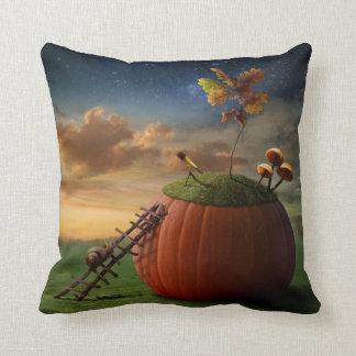 Surreal Stargazer Snail Throw Pillow