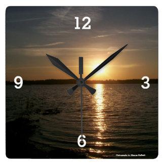 Surreal sunset clock