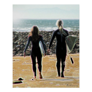 Surreal Surfing Safari Poster 1