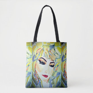 Surreal Swedish girl - watercolor painting Tote Bag