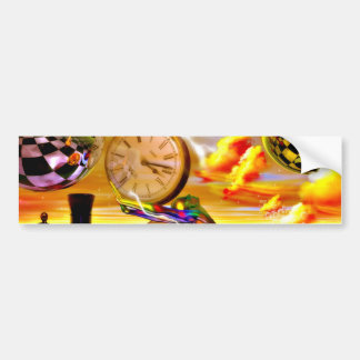 Surreal Time by Lenny metaphysical art Bumper Sticker