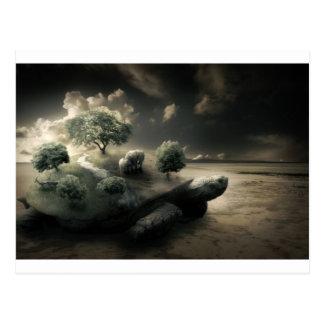 Surreal Turtle image Postcard