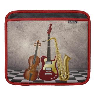 Surreal Violin Guitar Sax Music  Rickshaw Sleeve Sleeve For iPads
