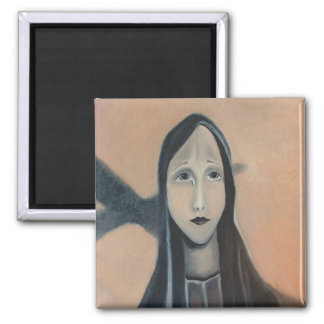 Surreal Virgin Mary Magnet