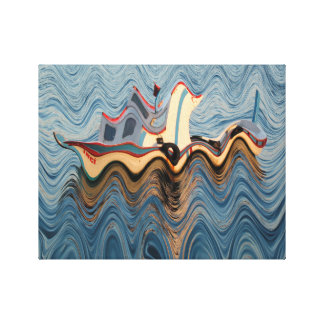 Surreal Waves Canvas Print