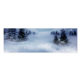 Surreal Winter Mini Business Card