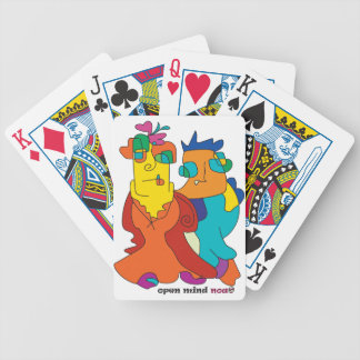 surrealist couple naive art noa bicycle playing cards