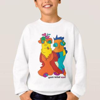 surrealist couple naive art noa sweatshirt