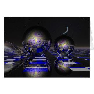 Surrealistic sci-fi card
