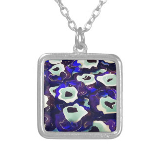 Surrealistic Turkish Boncuk Silver Plated Necklace
