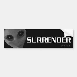 SURRENDER BUMPER3 BUMPER STICKER