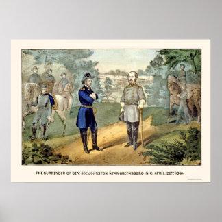 Surrender of General Johnston,  1865 Poster