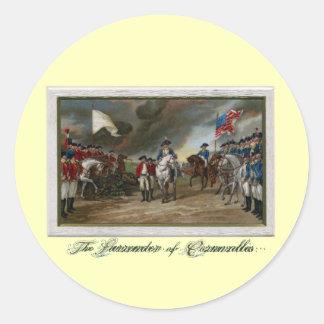 Surrender of Lord Cornwallis at Yorktown Classic Round Sticker