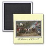 Surrender of Lord Cornwallis at Yorktown Square Magnet