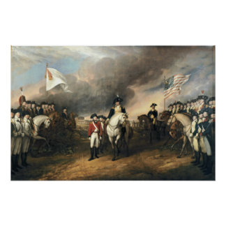 Surrender of Lord Cornwallis Poster