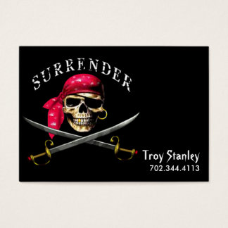 Surrender Pirate Business Card template
