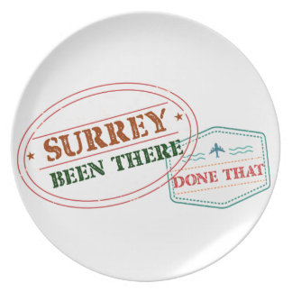 Surrey Been there done that Plate