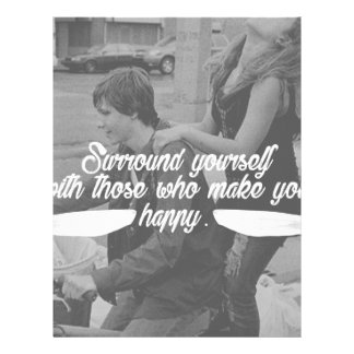 Surround Yourself Be Happy Letterhead