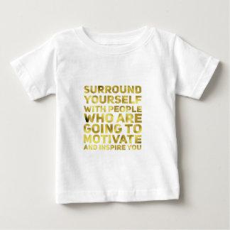 Surround Yourself Quote Dark Gold Baby T-Shirt