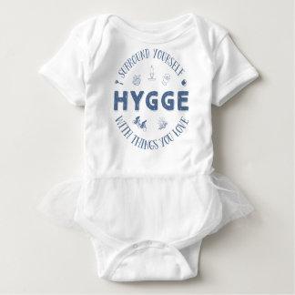 Surround Yourself w. Hygge (Dark Blue text) Baby Bodysuit