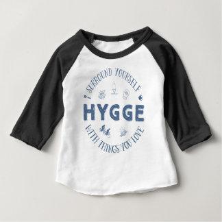 Surround Yourself w. Hygge (Dark Blue text) Baby T-Shirt