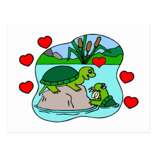 Surrounded By Turtle Love Postcard
