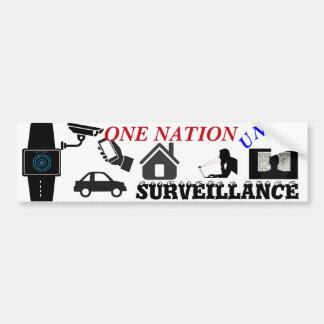 surveillance bumper sticker