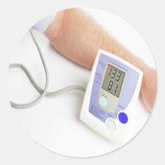 Surveillance de tension artérielle sticker rond