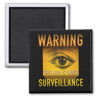 Surveillance Warning Big Brother Atomic Age Grunge Magnet