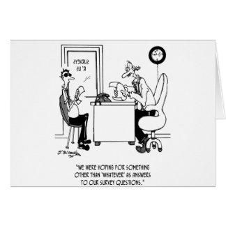 Survey Cartoon 7990 Card