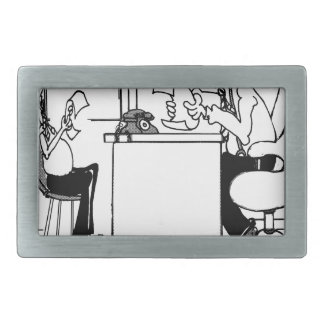 Survey Cartoon 7990 Rectangular Belt Buckle