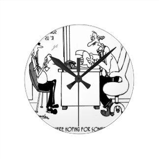 Survey Cartoon 7990 Round Clock