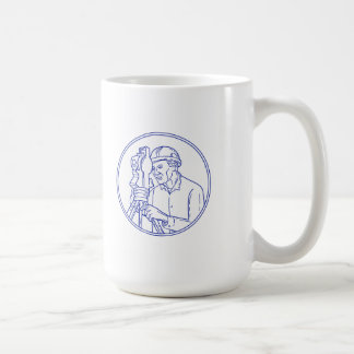Surveyor Theodolite Circle Mono Line Coffee Mug
